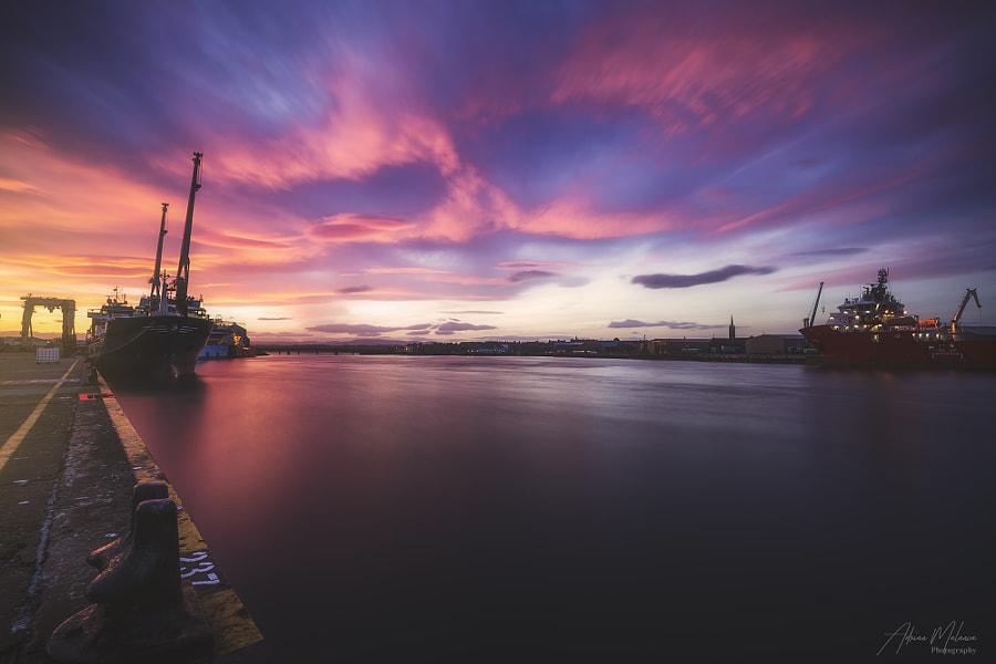 Crazy sunset at Montrose - Scotland UK, автор — Adrian Malanca на 500px.com