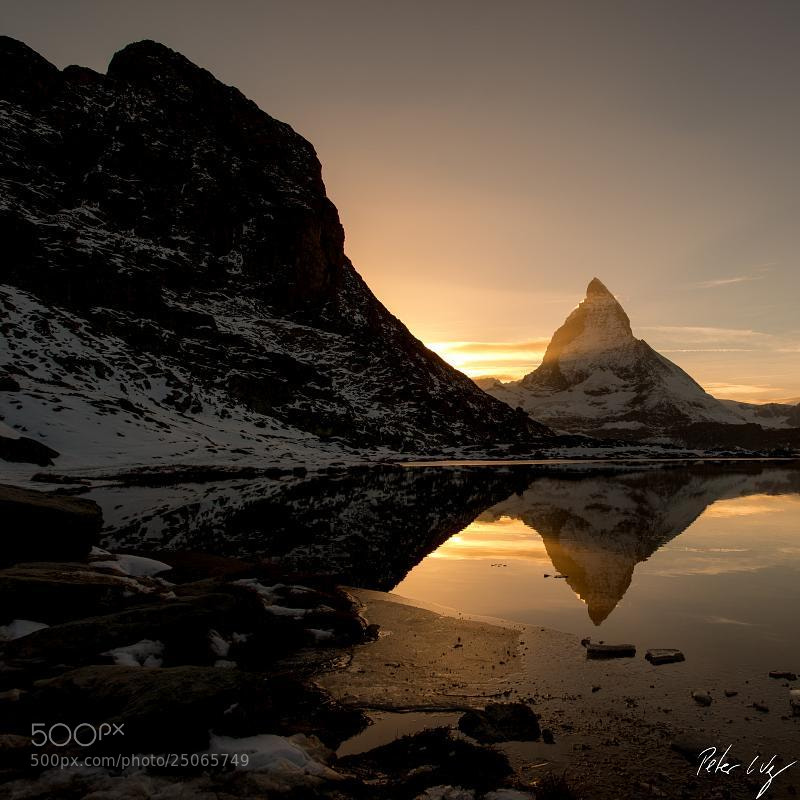 Photograph Matterhorn at sunset by Peter Wey on 500px