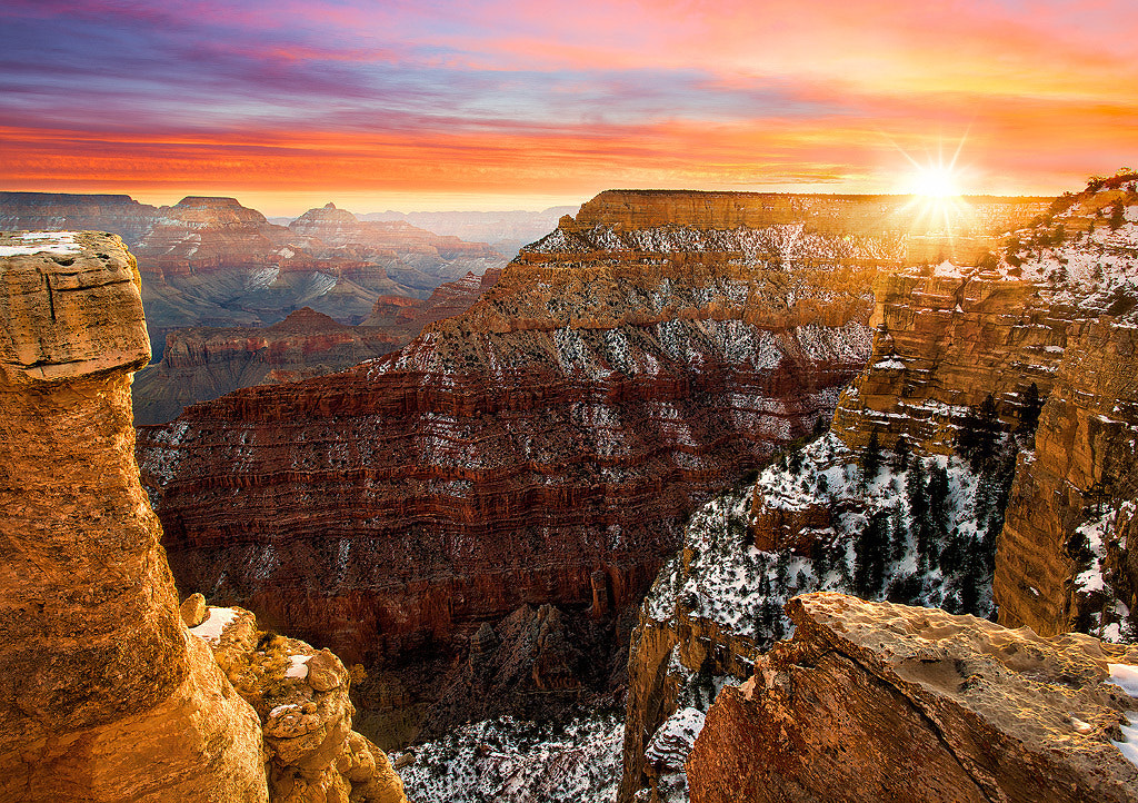 Photograph Grand Canyon Winter Sunrise by Steve Perry on 500px