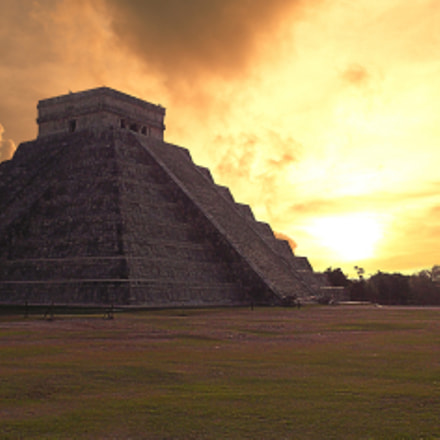 Ancient Chichenitza Sunset, Nikon COOLPIX S30
