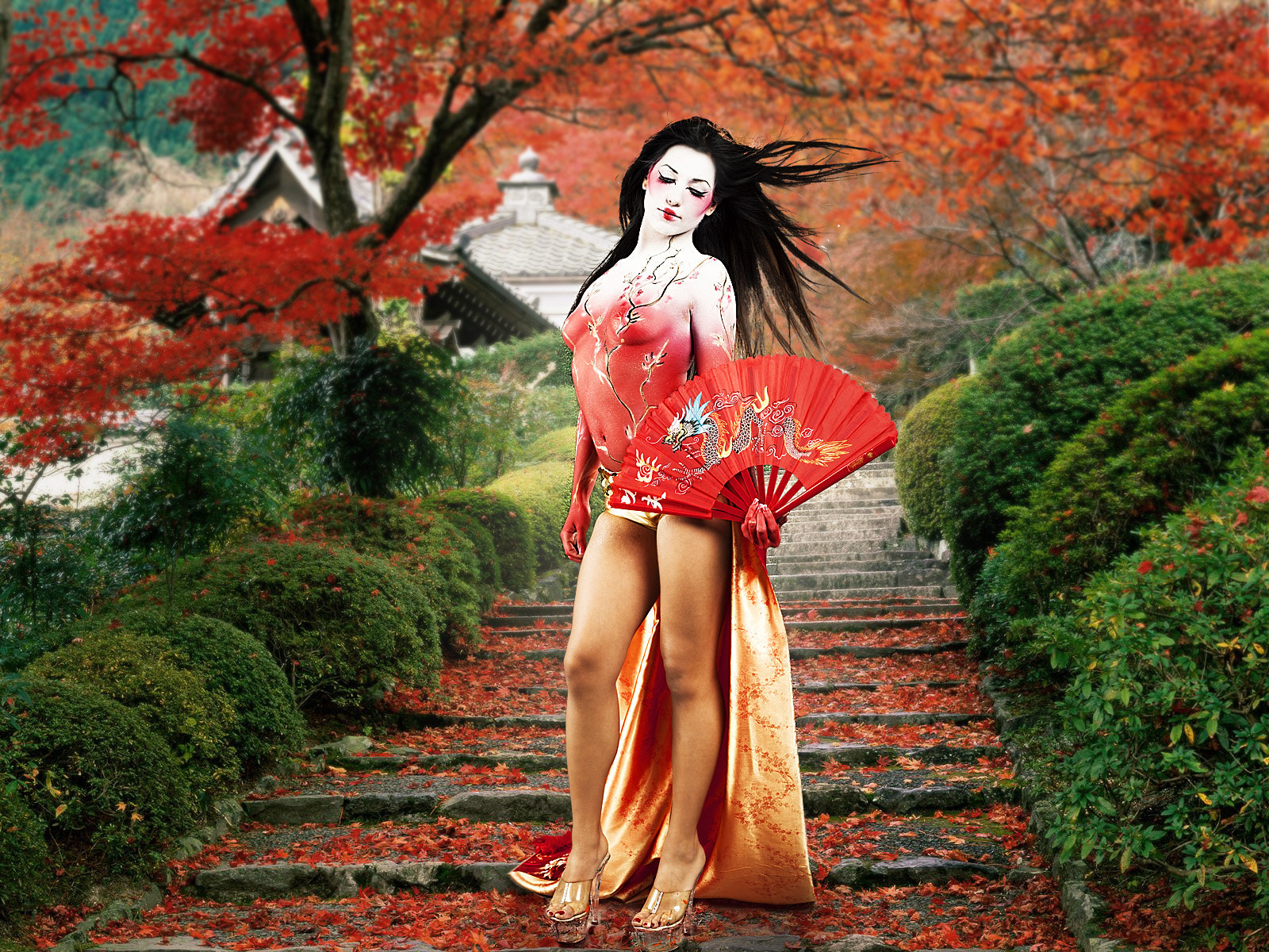 Photograph Geisha Body Paint by Paulo Ebling on 500px
