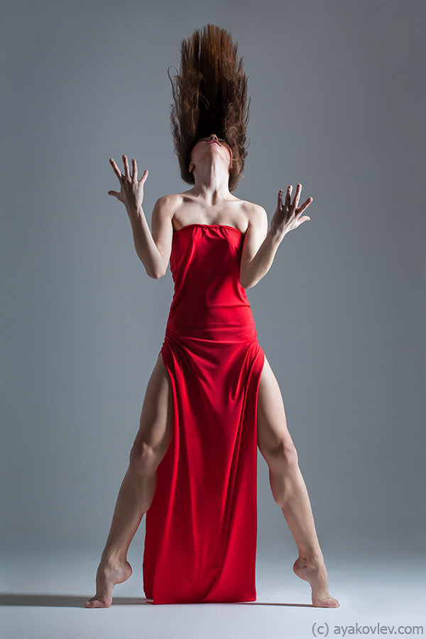 Photograph Dancer in red by Alexander Yakovlev on 500px