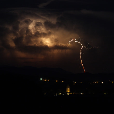 Thunderstorm, Canon EOS 600D, Canon EF 70-210mm f/4