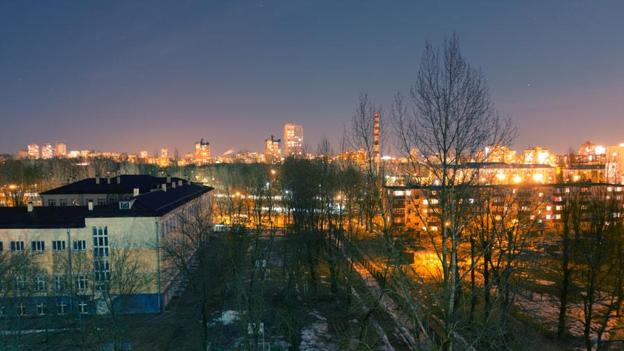 Night Minsk by Dmitry Tabakerov