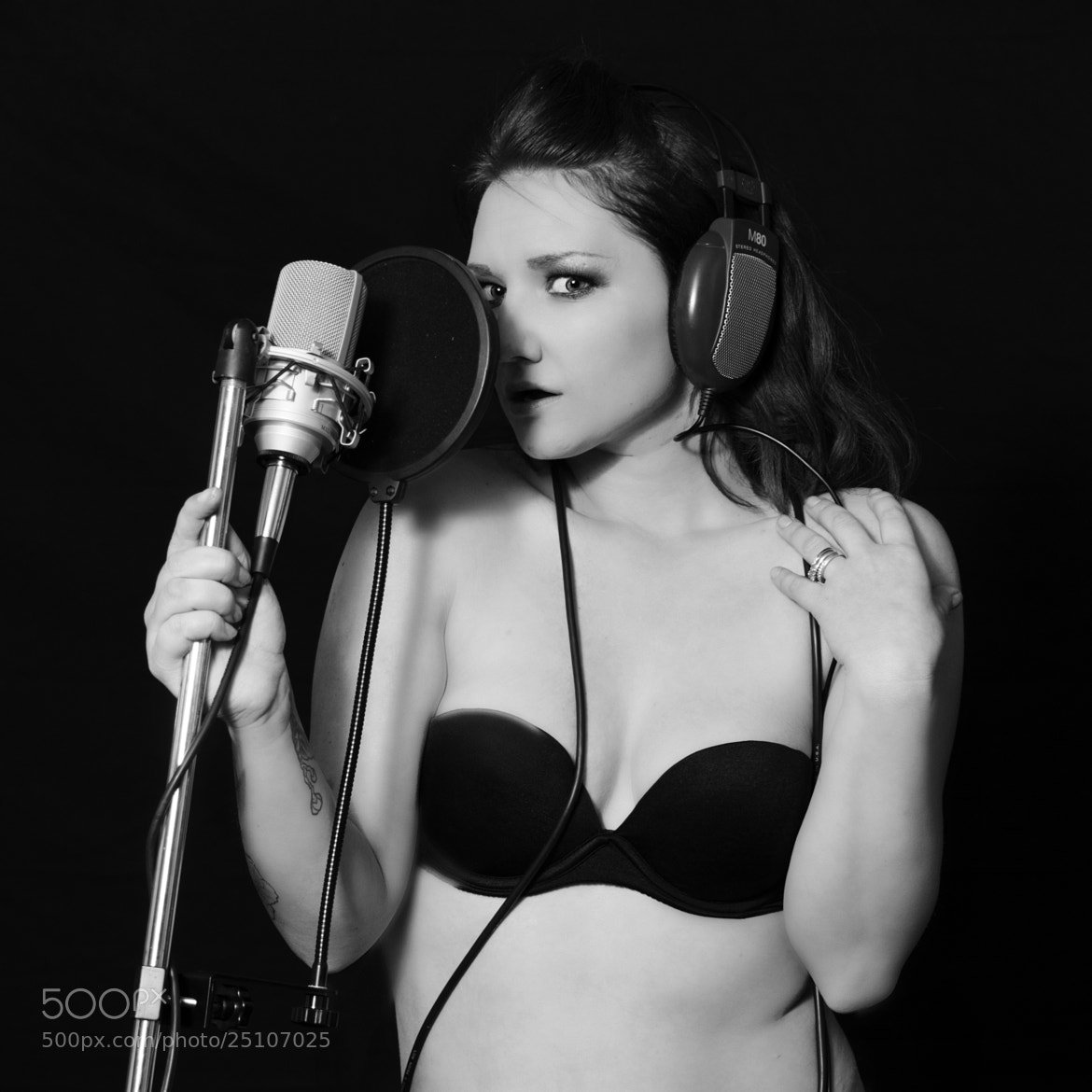 Photograph Erin on the Mic by Chad Estes on 500px
