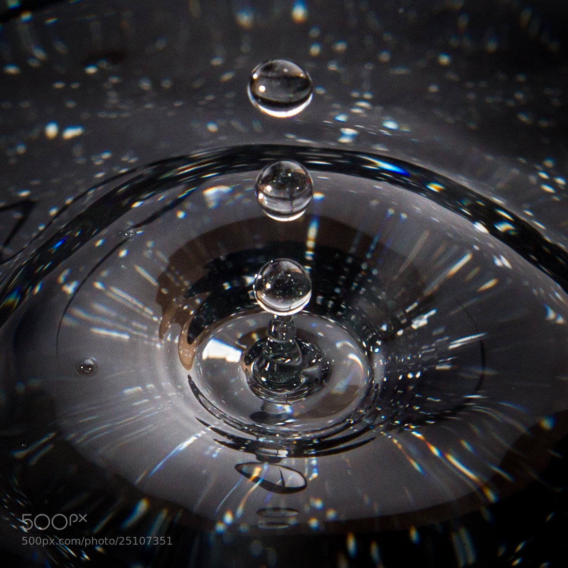 Photograph Three Drops  by Victor Leung on 500px