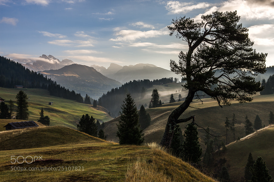 """<a href=""""http://www.hanskrusephotography.com/Workshops/Dolomites-October-7-11-2013/24503434_Pqw9qb#!i=2350794268&k=vQct94r&lb=1&s=A"""">See a larger version here</a>  This photo was taken during a photo tour that I was leading in the Dolomites October 2012."""