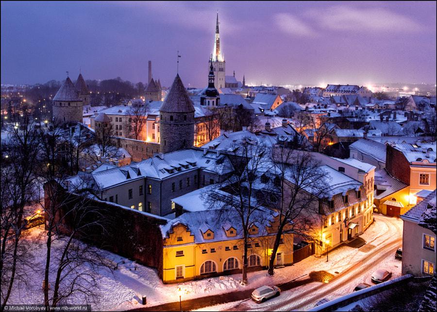 Evening Tallinn by Michail Vorobyev on 500px.com