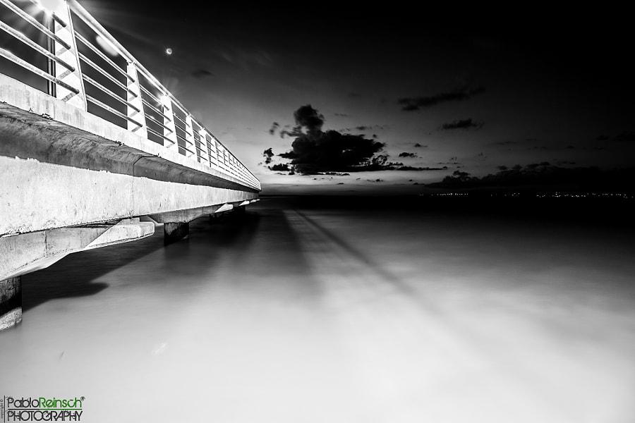 Under the pier.-