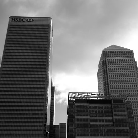 View of Canary Wharf, Canon IXUS 275 HS