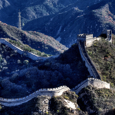 The Great Wall in Badaling.