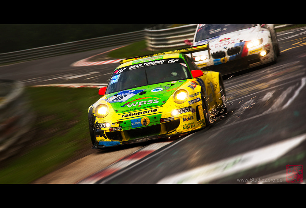 Photograph Porsche 997 GT3-RSR Manthey Racing, VS BMW Motorsport M3 GT by Shurazero Hide Ishiura /  StudioZero.de on 500px