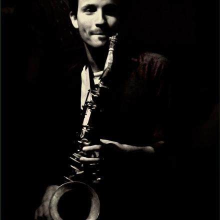 Gabriel Kerekes on sax, Panasonic DMC-ZS25