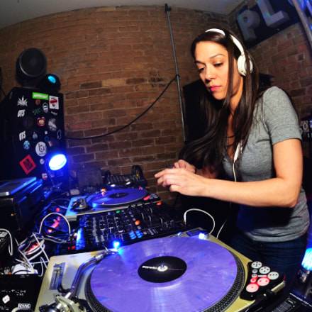 dj Valerie Molano at, Nikon D7000, AF DX Fisheye-Nikkor 10.5mm f/2.8G ED