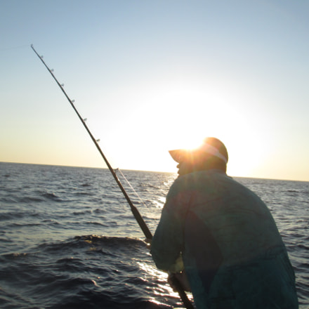 Sun rise angler, Canon POWERSHOT A3400 IS