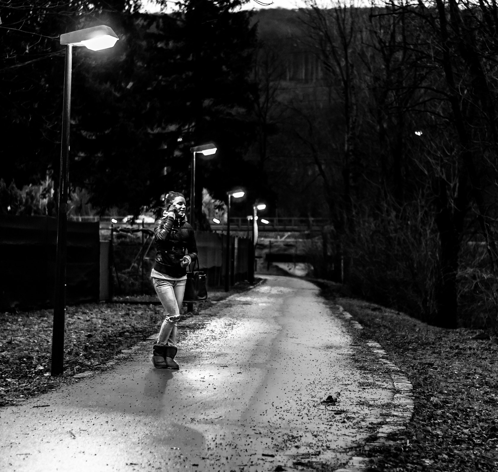 Photograph on the phone at night by Marcus T on 500px