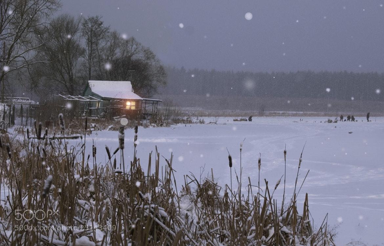 Photograph winter sketch with fishermen by Boris Tretyak on 500px