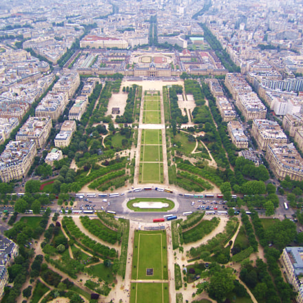 Top of Eiffle Tower, Canon POWERSHOT SD1400 IS