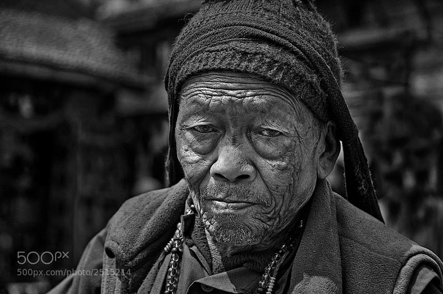 Old Tibetian Man in Nepal
