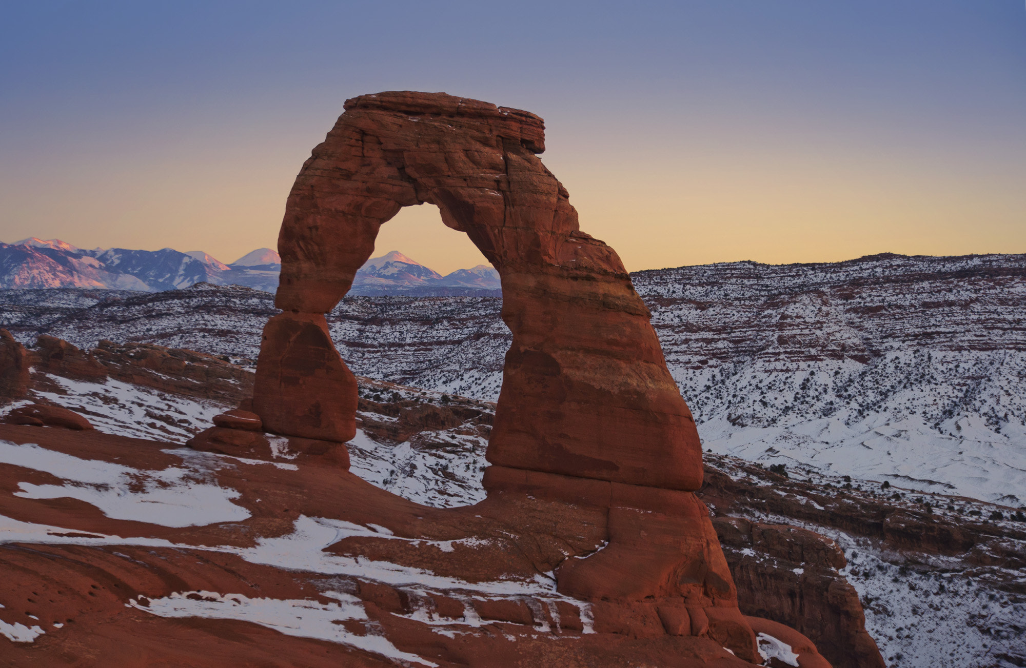 Photograph Delicate Arch sunset by Panitan Jutaporn on 500px