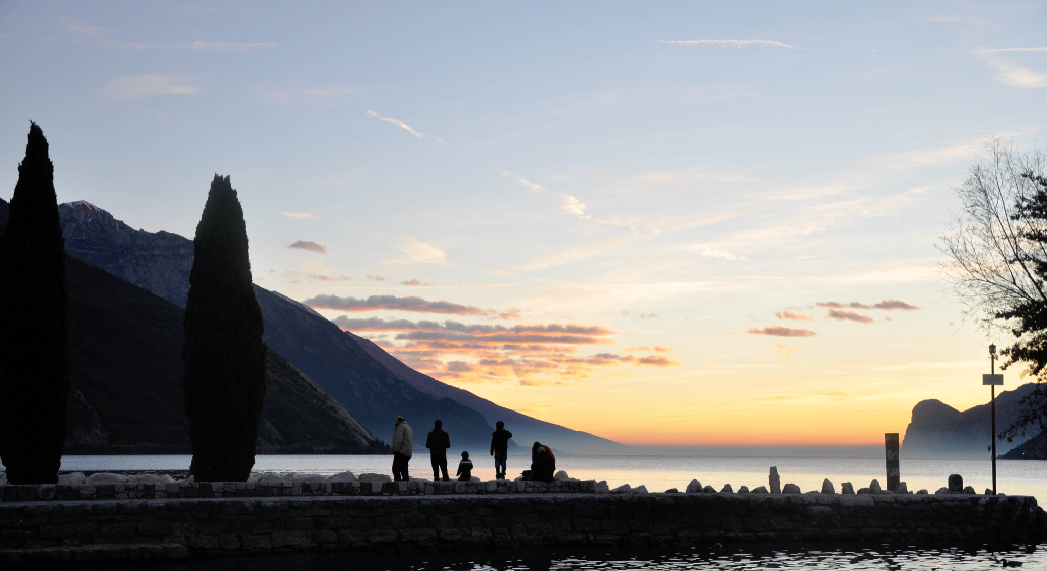 Photograph Sunset on Garda lake by Cinzia Planchenstainer on 500px