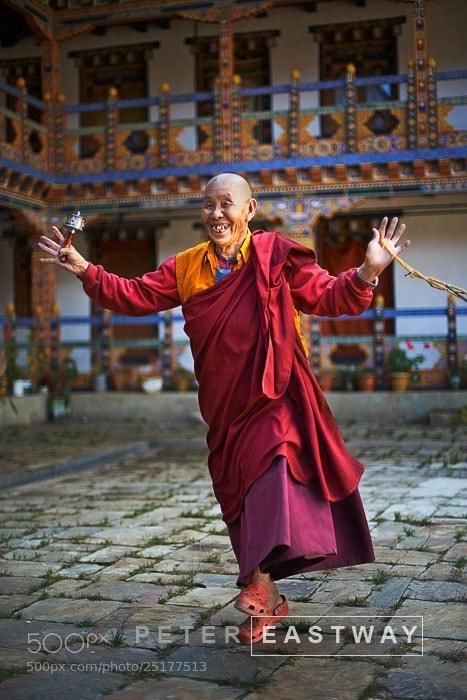Photograph Happy Nun, Bhutan by Peter Eastway on 500px