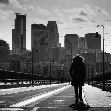 Minneapolis Downtown, taken from the Stone Arch Bridge