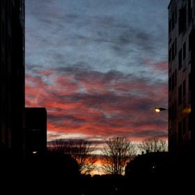 City sky sunrise