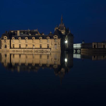 Château de Chantilly à l'heure bleue.