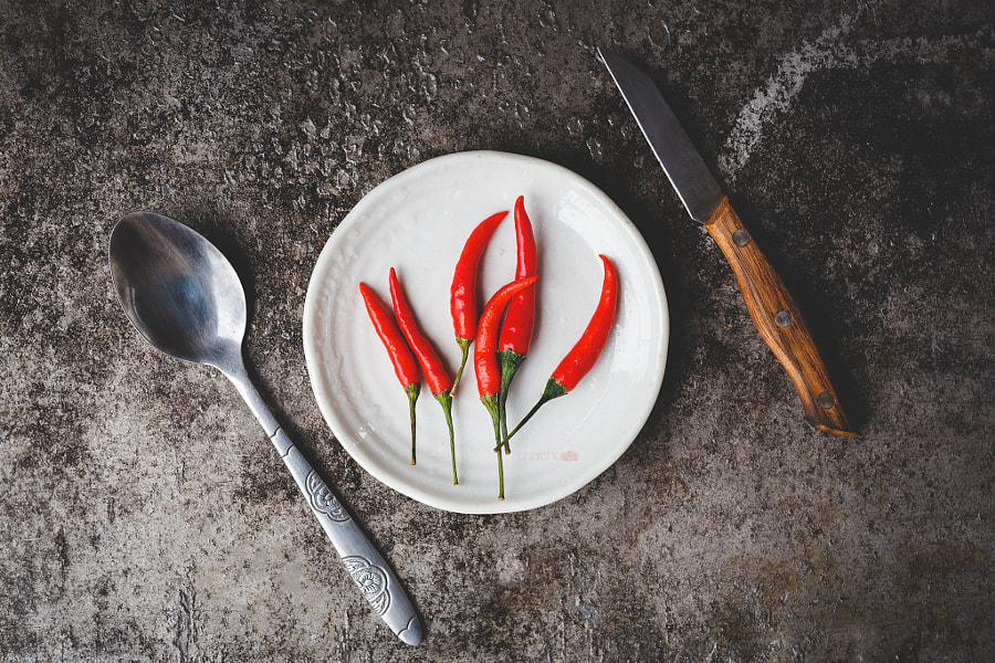 Red little chillies by Thai Thu on 500px.com