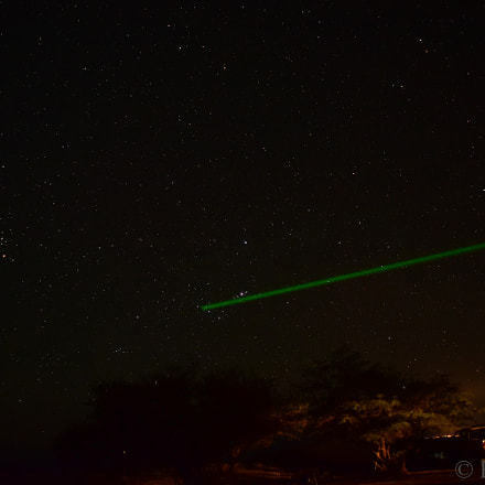 Playing with laser Orion, Nikon D750, AF Zoom-Nikkor 24-120mm f/3.5-5.6D IF