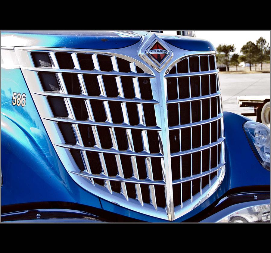 586 Blue Truck