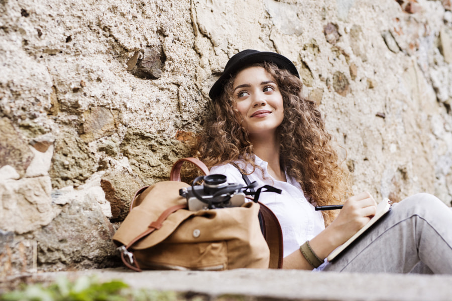 A young tourist with a camera in the old town. by Jozef Polc on 500px.com