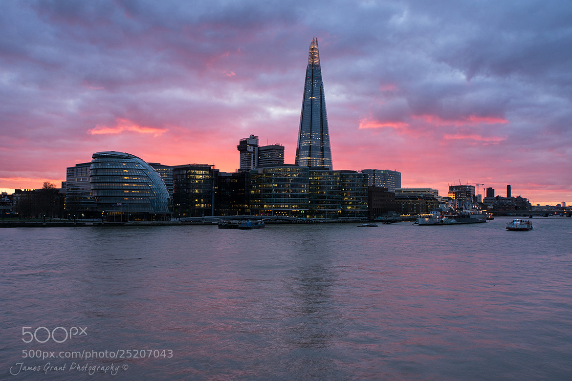 Photograph Shard Sunset by James Grant on 500px