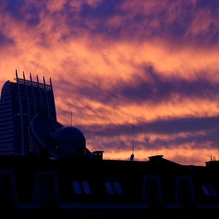 Fiery sky, Canon EOS 80D