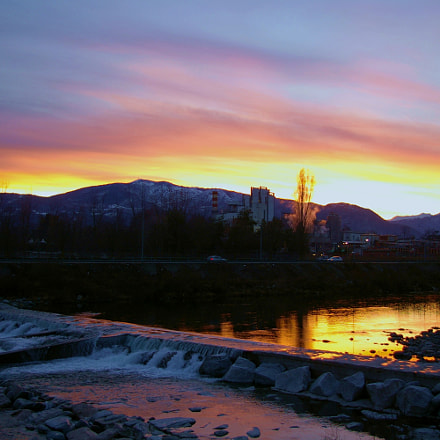 Sunset on the river, Pentax K110D, smc PENTAX-DA 18-55mm F3.5-5.6 AL