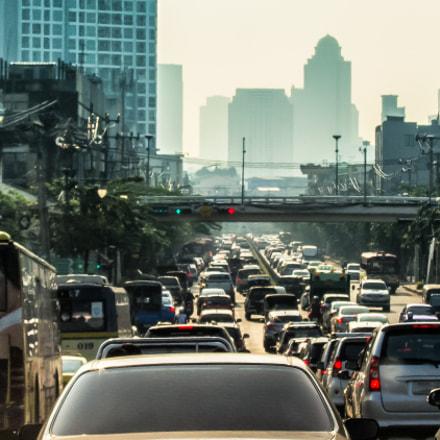 Bangkok morning rush hour, Canon POWERSHOT S90
