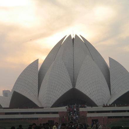 Delhi Lotus Temple, Canon POWERSHOT A400