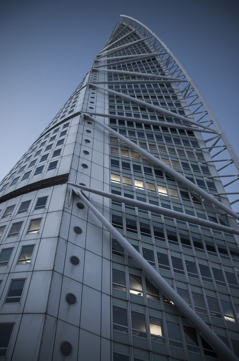 Photograph Turning Torso from Down Below by Andrew Dunn on 500px