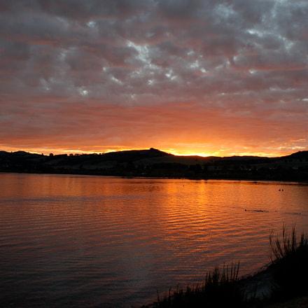 Sunset @ Lake Taupo, Nikon D50, AF Nikkor 24mm f/2.8D