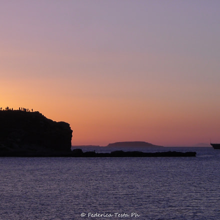 Amazing sunset on Naxos, Nikon COOLPIX L16