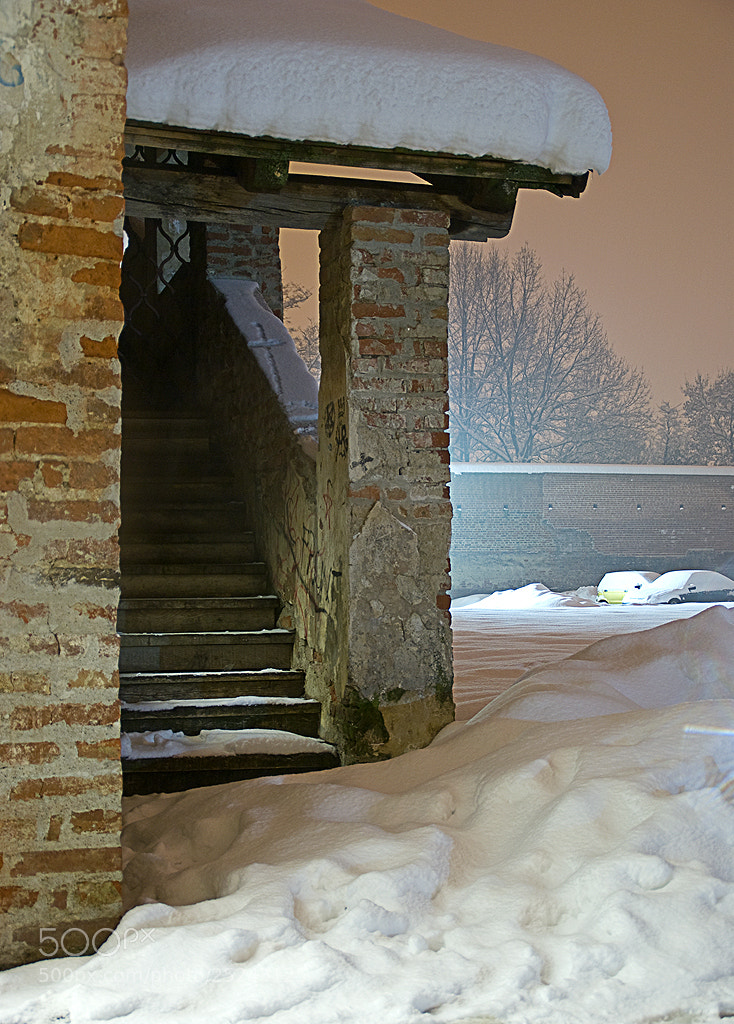 Photograph Snowy Stairway by Preininger on 500px