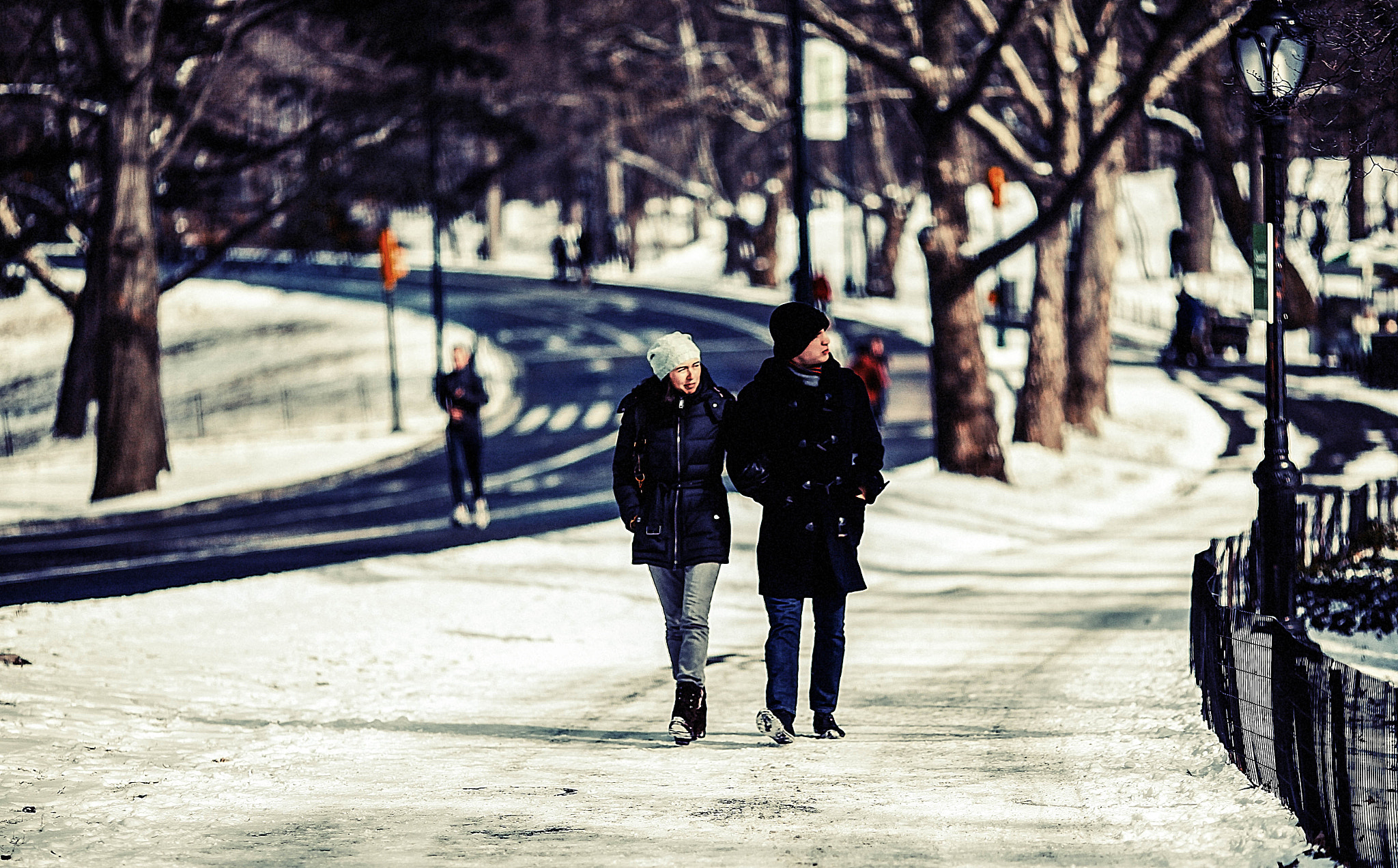 Photograph { Love - Walking - Central Park - Snowy Day }  by Anh Gerrard  on 500px