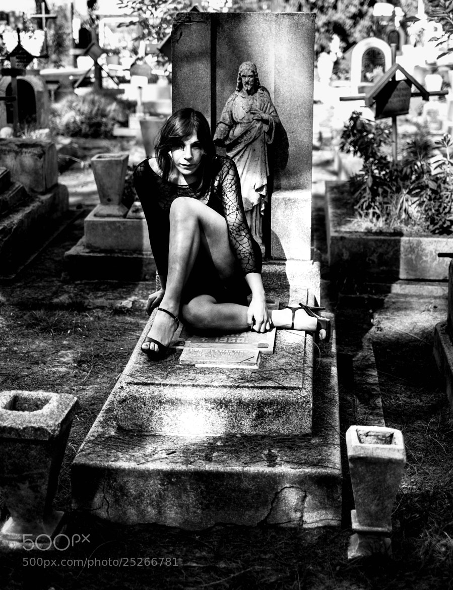 Photograph graveyard girl II by miguel angel cortes on 500px