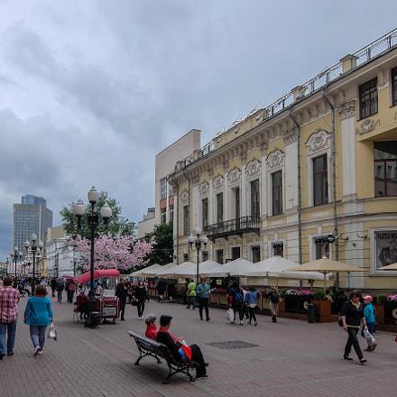 Arbat street. Moscow. Russia., Fujifilm XQ1