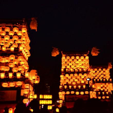Paper lantern festival(犬山祭), Nikon D7000, AF Nikkor 24mm f/2.8D