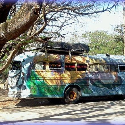 hippie bus at Tamarindo, Samsung SCH-I110