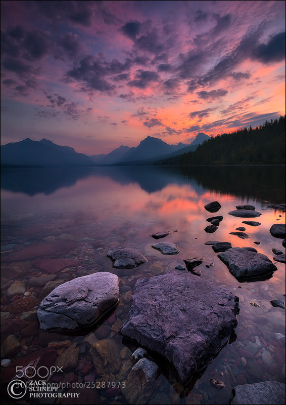 Lake McDonald Sunrise by Zack Schnepf on 500px.com