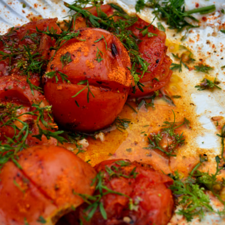 Yummy! Grilled Tomatoes, Nikon D7000, AF Zoom-Nikkor 28-80mm f/3.5-5.6D