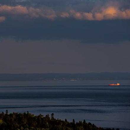 Coucher de soleil sur le St Laurent